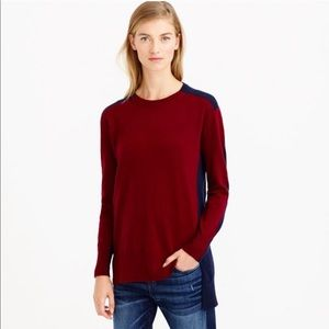 J. Crew Colorblock Sweater-Tunic XS